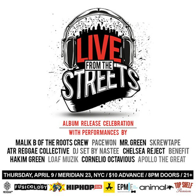 live from the streets album release flyr